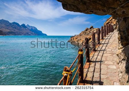 Coast at Taganana in Tenerife island - Canary Spain - stock photo