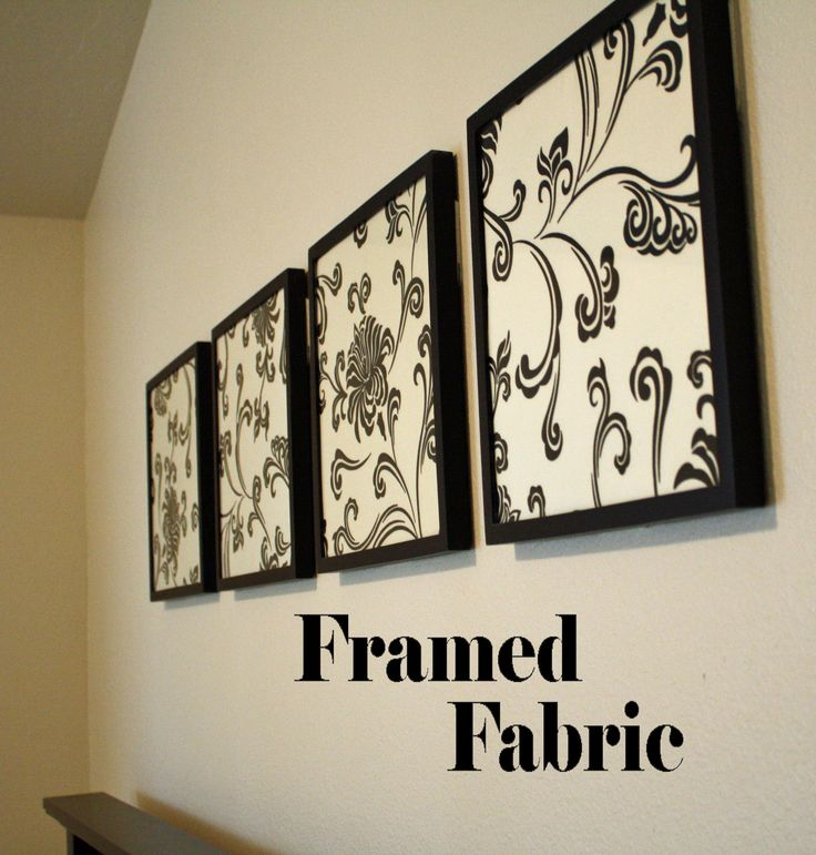 Framed Fabric Wall Decor Find A Cute Fabric That Matches Your Bedroom Colors And