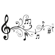 Resultado de imagen de notas musicales siluetas