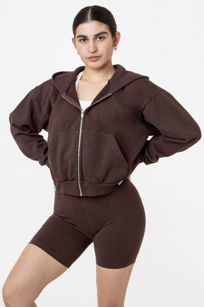 Hf16gd Garment Dye 14oz Cropped Heavy Fleece Zip Up Hooded Sweatshirt In 2020 Hooded Sweatshirts Garment Dye Zip Ups