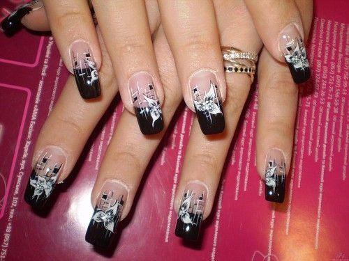 Glitter Acrylic Nails Designs: Black Glitter Nails Ideas ...