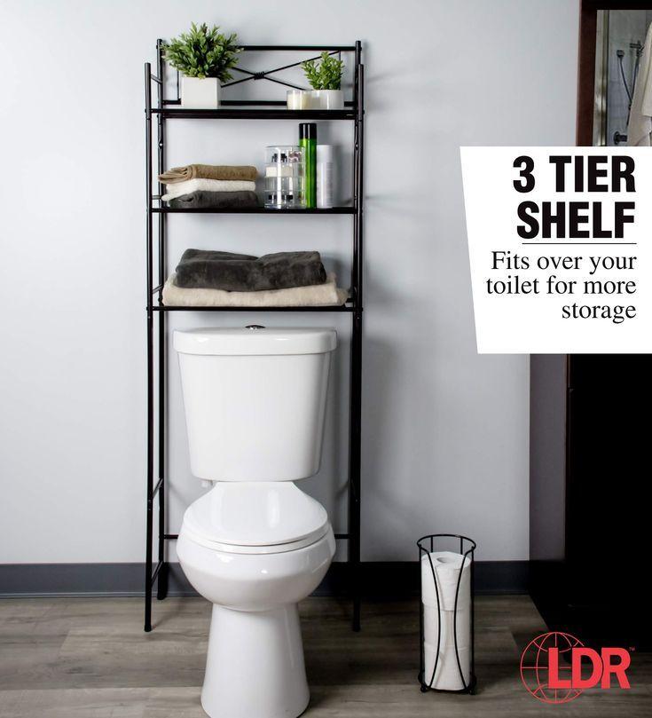 Over the Toilet Storage Bathroom Organizer Set  3 Shelf Above Toilet Space Saver…   – most beautiful shelves