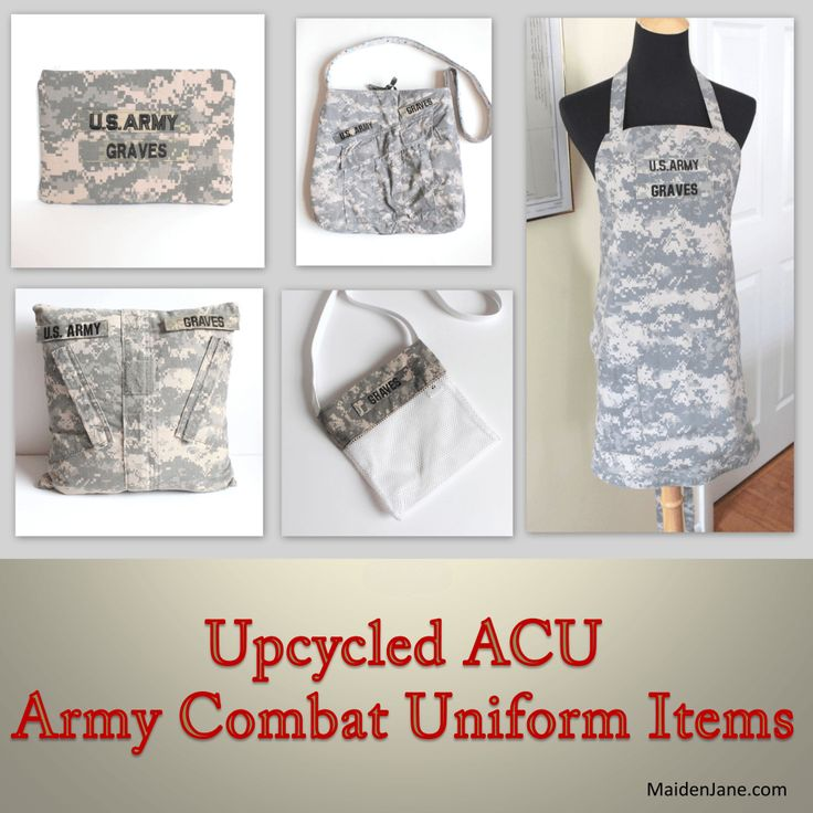 Upcycled ACU Army Combat Uniform