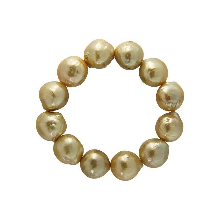 Βραχιόλι με μαργαριτάρια χρυσού χρωματισμού - M122354Y