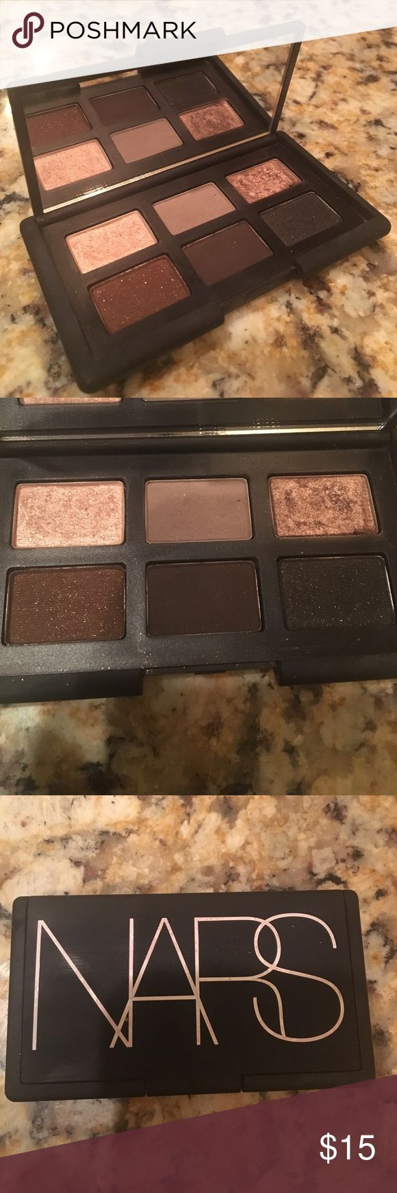 """NARS eyeshadow palette NARS """"And God Created the Woman"""" eye shadow palette. Used about 5 times. Just downsizing on my makeup collection . Authenticity guaranteed! Nice thin, small palette makes it great for traveling! Fourth picture is swatches found online. NARS Makeup Eyeshadow"""