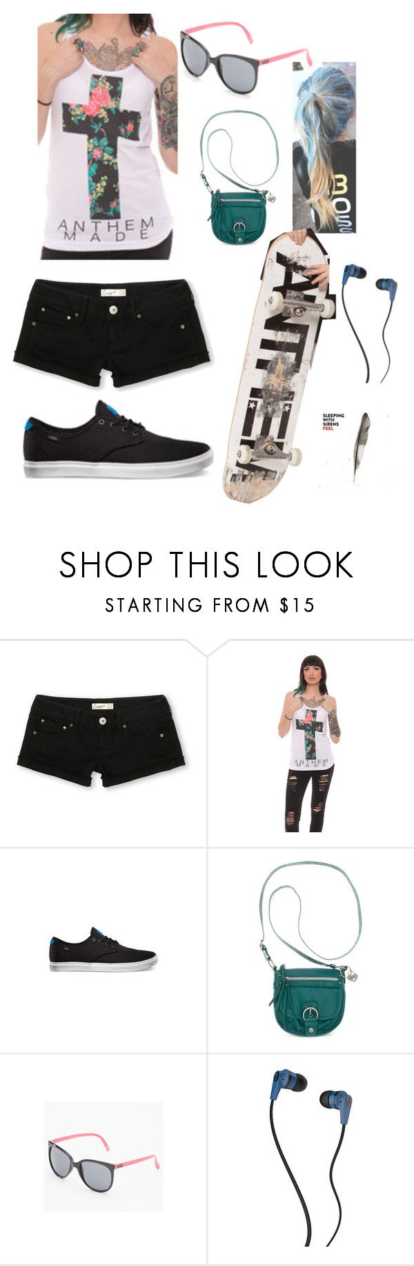 """Anthem Made"" by ferny117 ❤ liked on Polyvore featuring Daniblack, American Rag Cie, Vans, Skullcandy, sleepingwithsirens, kellinquinn, feel and anthemmade"
