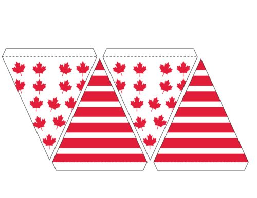 Canadian Flag Banner Bunting   #Canada #Day #Decorations #Free #printable