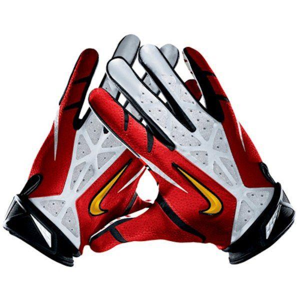 Nike Kansas City Chiefs Vapor Jet 2 0 Team Authentic Series Gloves 2 Football Gloves Nike Nfl Chiefs