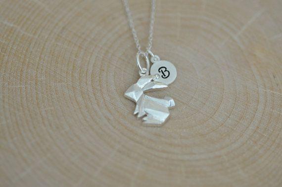 Origami coniglio collana in argento 925 collana di JamberJewels