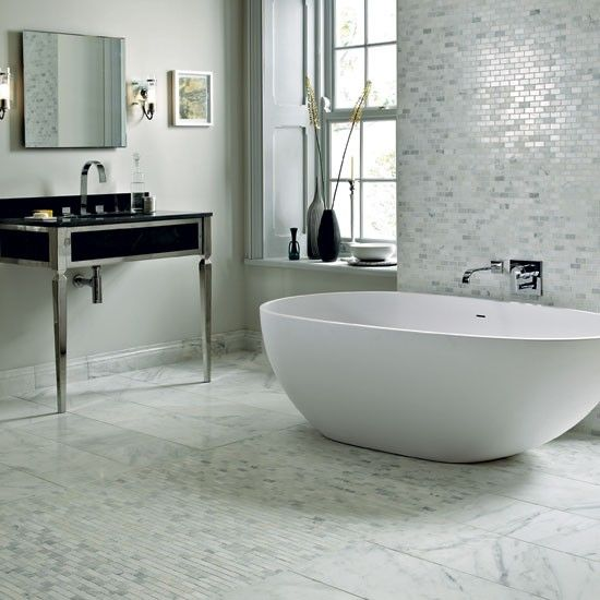 East Hampton white marble tiles from Fired Earth | bathroom trends 2012 | bathroom | Ideal Home | PHOTO GALLERY | housetohome