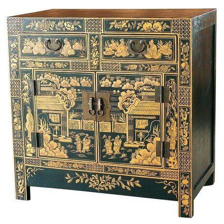Династия - Цин В период династии Цин император Цяньлуна собрал самых искусных мастеров. В это время происходит расцвет изобразительного искусства. Мебель была лаконичной формы, но обильно украшена резьбой или росписью.