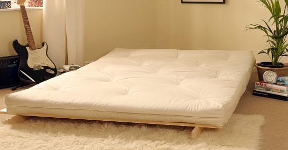 Triple 3 Seater Futon Mattress Multi Layer Tufted 100 Cotton Twill Cover