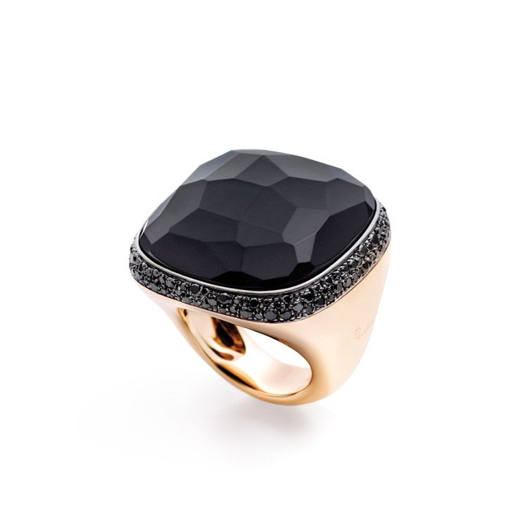Pomellato Victoria collection ring with jet and black diamonds in ...