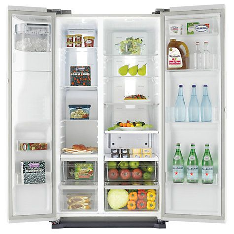 Buy Samsung RS7667FHCWW American Style Fridge Freezer, White Online at johnlewis.com