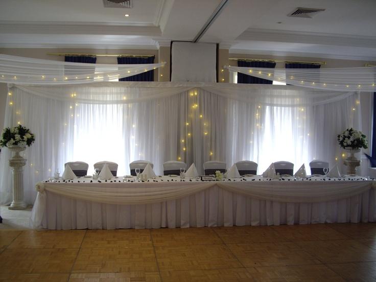 #backdrop #fairylights #bridaltable