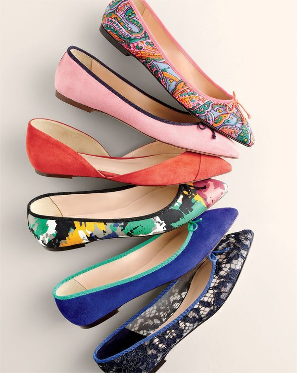 Meet Gemma and Sadie. Our newest J.Crew women's ballet flats in printed silk, colorful contrast suede and peekaboo lace.