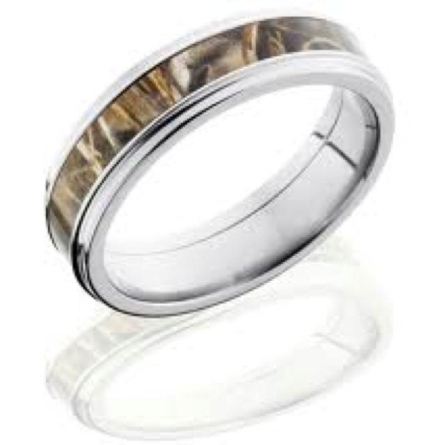 Men's camo wedding band. Depending on how country the people are <3