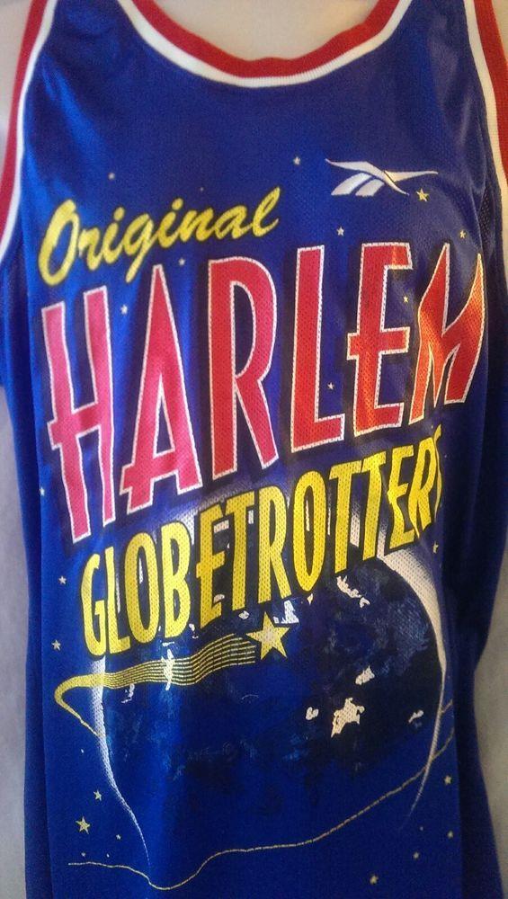 Sweet Lou Dunbar #41 Harlem Globetrotters Reebok Jersey Mens Size XL Blue #Reebok #HarlemGlobetrotters