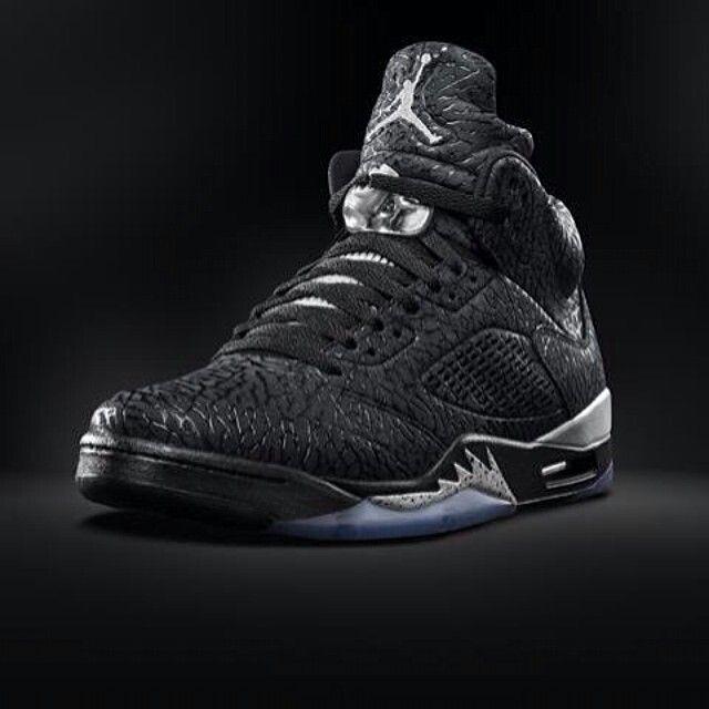 Nike Air Jordan 5 Mère Noir Et Blanc Rétro