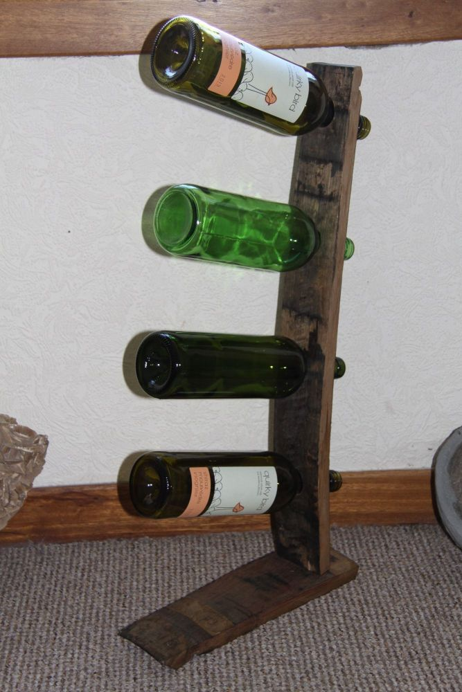 four wine bottle holder