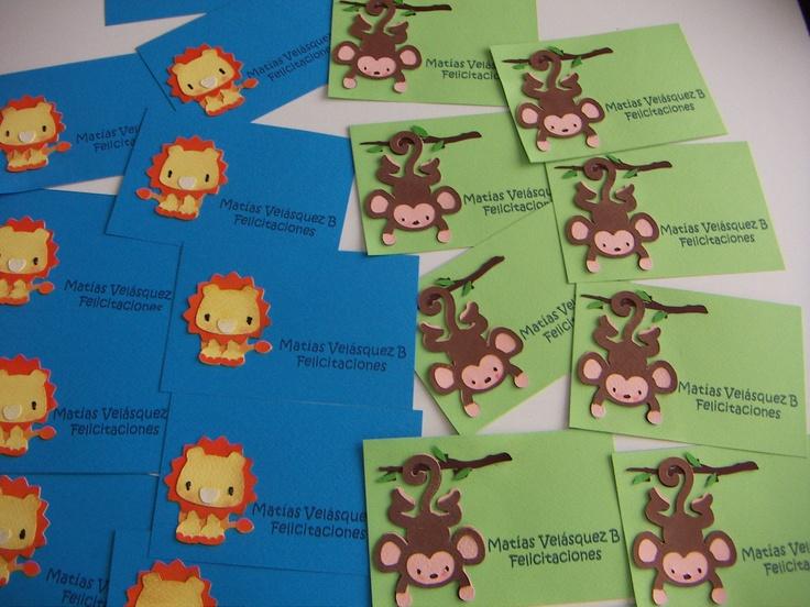 tarjetas personales niño