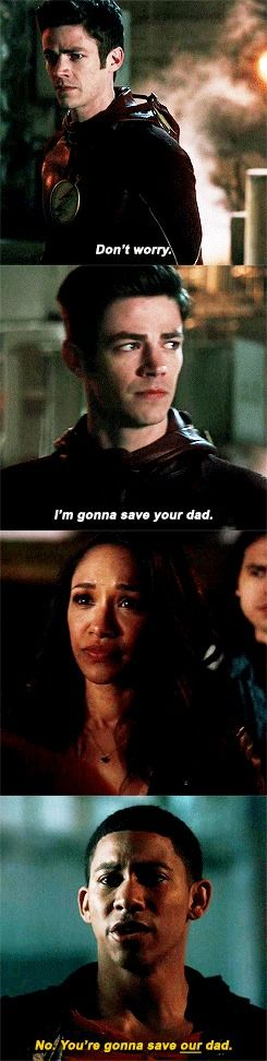 """No. You're gonna save our dad"" - Wally, Iris, Barry and Cisco #TheFlash"