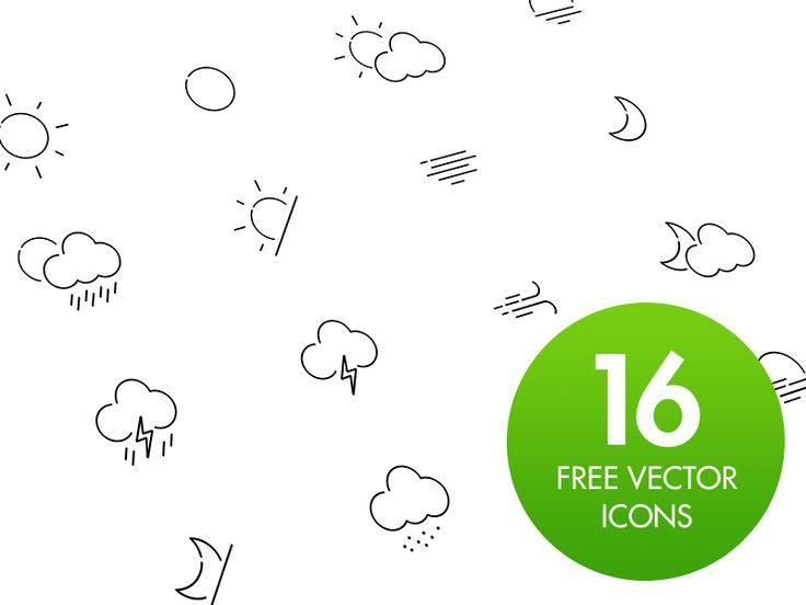 Free Weather Icon Set by Lukáš Oslzla