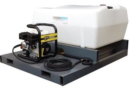 400 litres skid mounted pressure washer. Ideal for use on heavy plant and machinery cleaning. For more information please contact us on 0845 3731 832 or visit our website http://www.fresh-group.com/waterers-and-bowsers.html