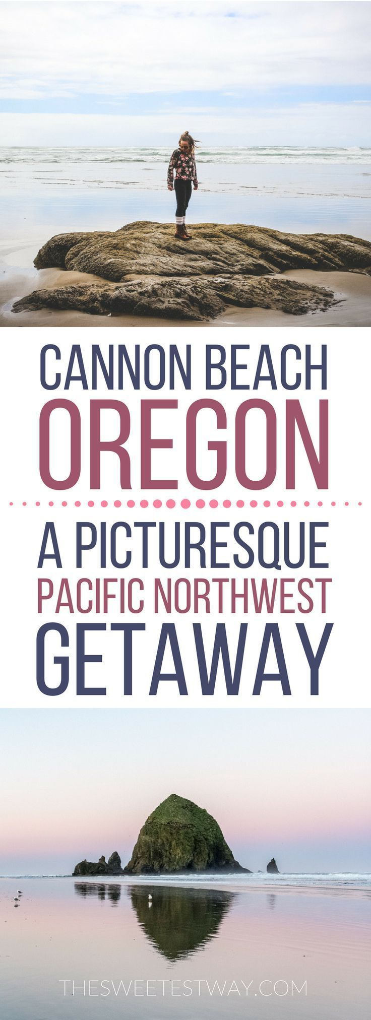 How to spend a relaxing or romantic getaway in Cannon Beach, Oregon. A list of things to do and where to go is at the end of the post! #oregon #pacificnorthwest #TravelDestinationsUsaOregon