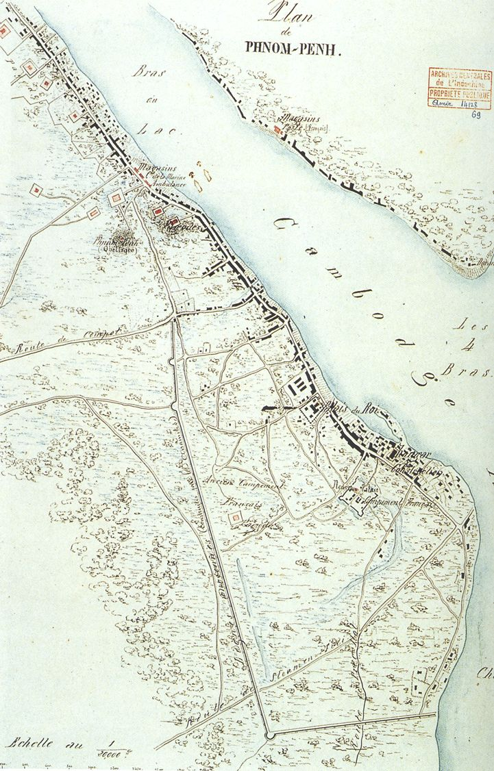Historical Map - Phnom Penh 1867