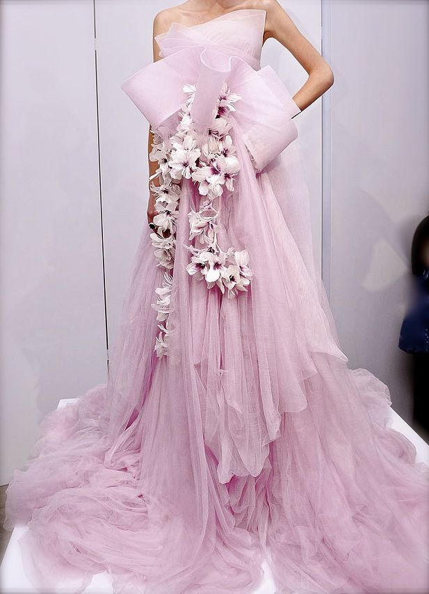 MarchesaFashion Weeks, Wedding Dressses, Marchesa Spring, Pink Wedding Dresses, Fashion Clothing, Princesses Style, Gowns, Purple Wedding, Haute Couture