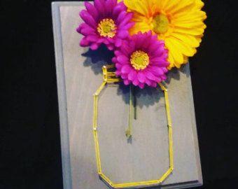 Einmachglas String Kunst mit austauschbaren von StuckLikeGlueShop