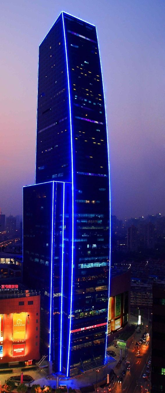 Cloud 9 Tower, Renaissance Shanghai Zhongshan Park Hotel, Shanghai, China ba Aequitectonica :: 58 floors, height 238m