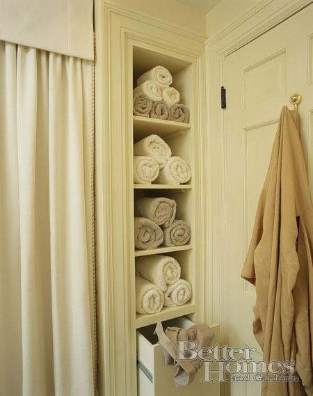 like the builtin hamper u0026 extra storage for towels