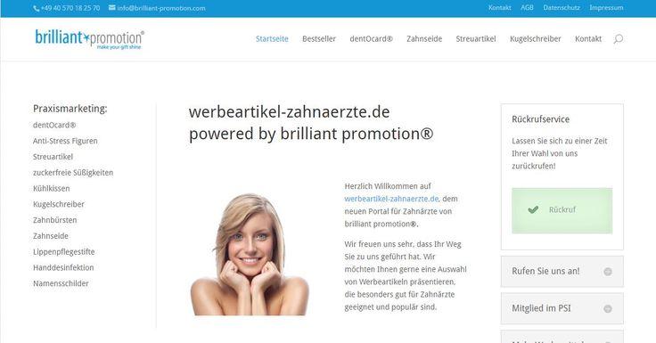 www.werbeartikel-zahnaerzte.de – das Redesign macht den Kauf von #Werbemitteln für #Zahnärzte noch einfacher.