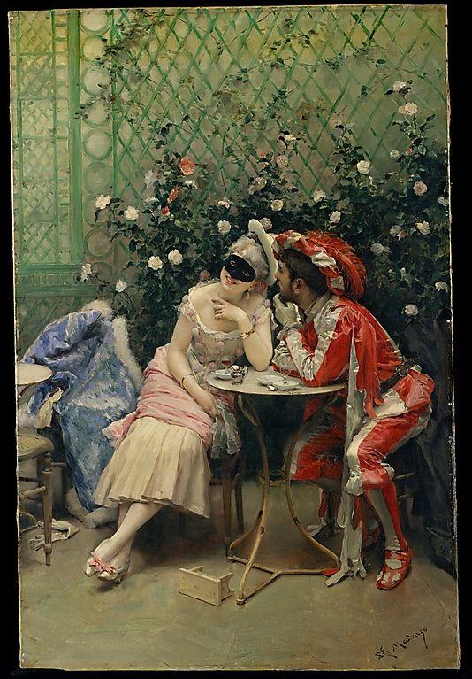 """Raimundo de Madrazo y Garreta--""""The Masqueraders"""""""