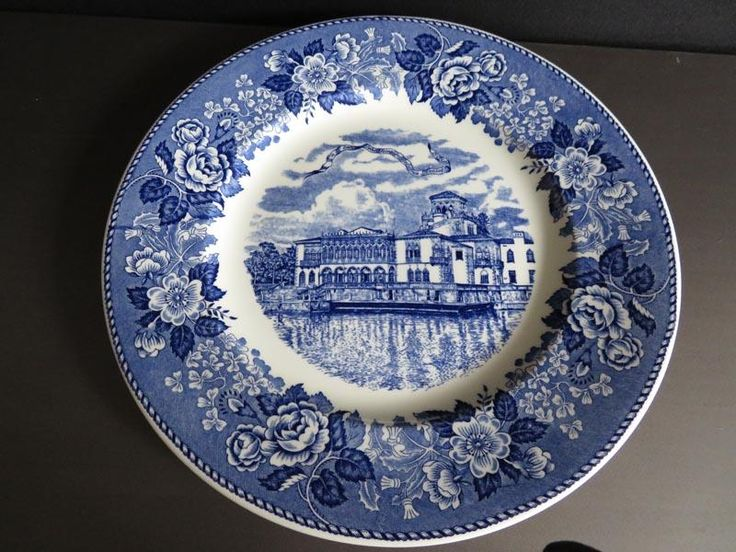 Old Staffordshire commemorative plate