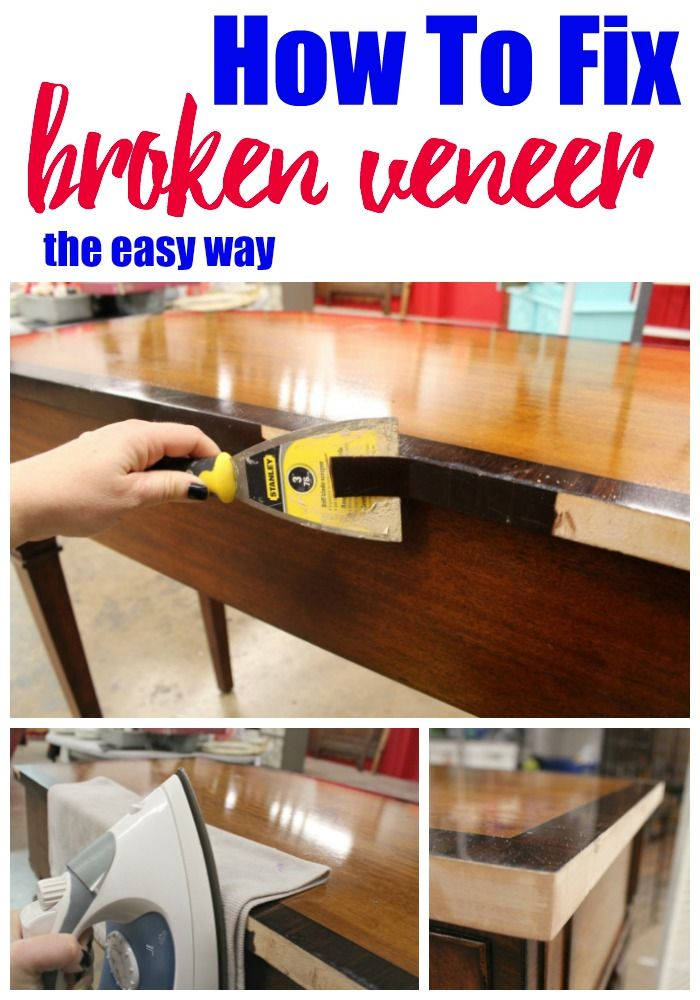 Great How To Repair Broken Veneer   Refunk My Junk