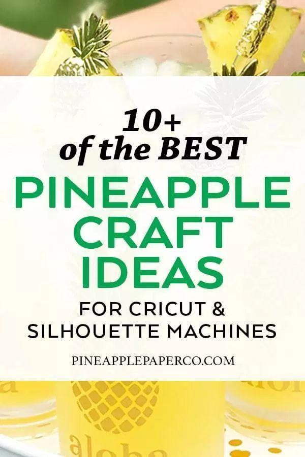 Pineapple Craft Ideas for Cricut & Silhouette