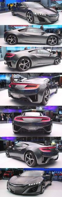 Acura  NSX Concept the evolution of the next-generation supercar's styling and design