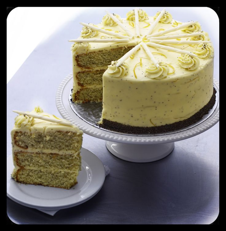 #Lemonpoppy #Seed #Cake by 180 Degrees Catering and Confectionery www.180degrees.co.za