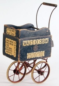 Antique Ice Cream Wagon.