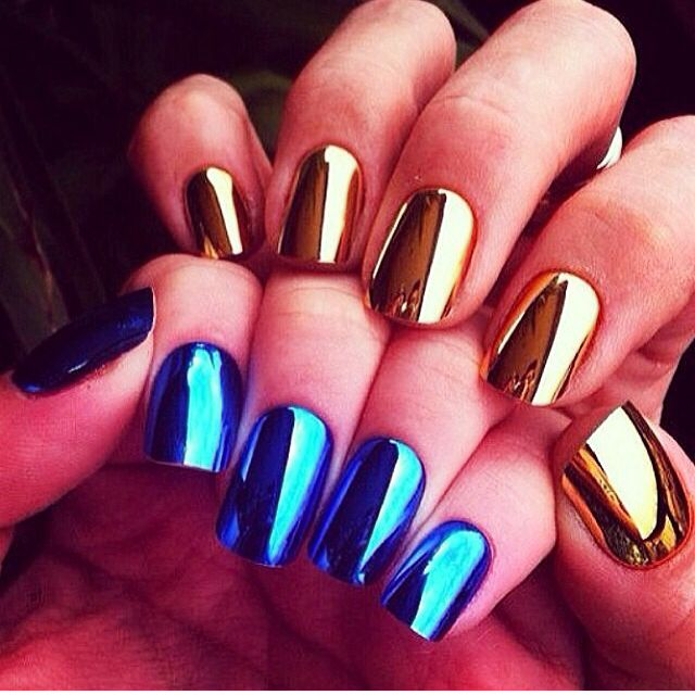 25+ Best Ideas About Chrome Mirror Nail Polish On