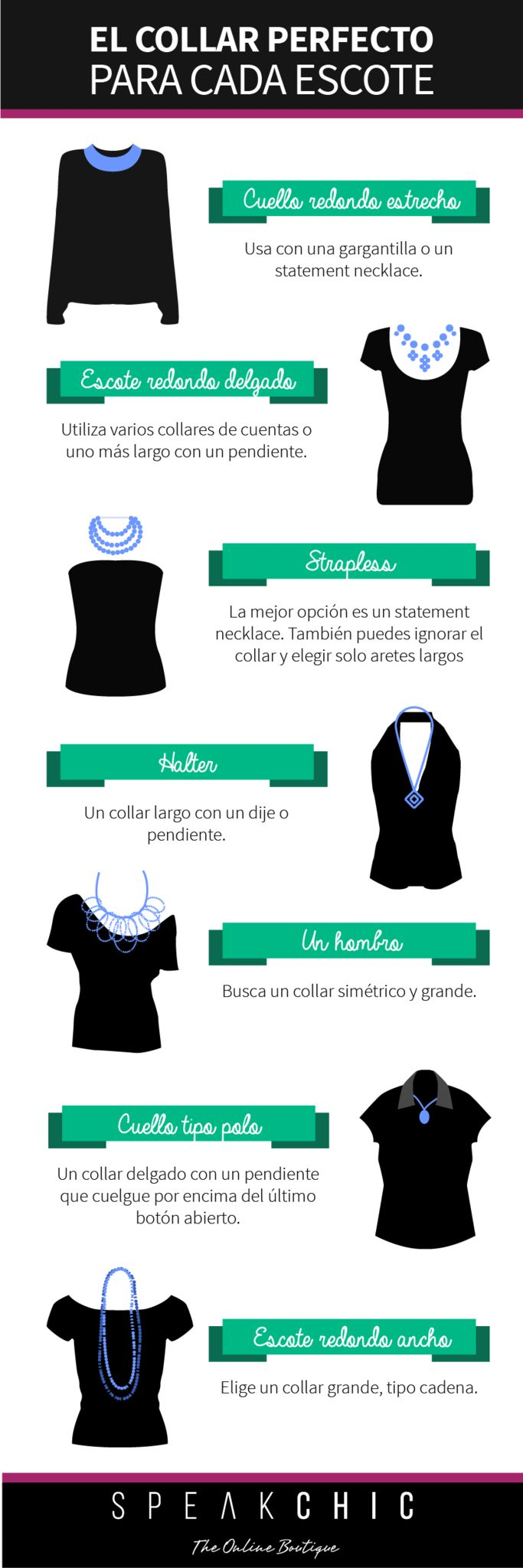 El collar perfecto para cada escote | SPEAK CHIC | Accesorios de Marca Originales