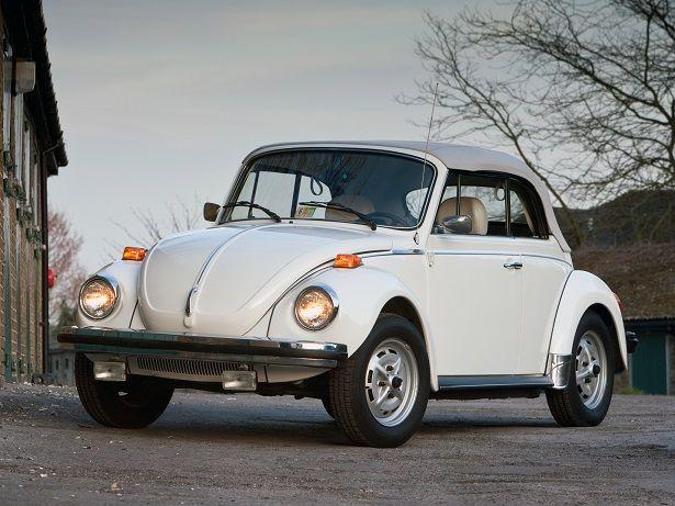 "Volkswagen Beetle Convertible ""Triple White"" (1976 – 1979)."