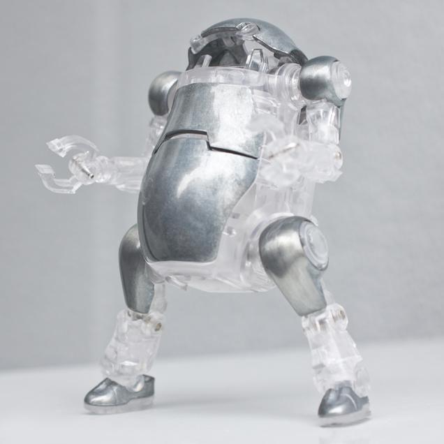 Mechatro 35 WeGo Unpainted Clear 10cm Robot Action Figure