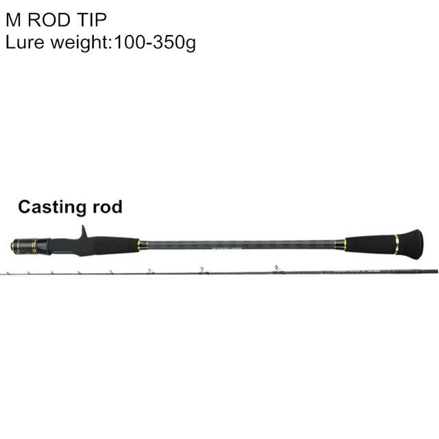MAVLLOS 1.95M ML/M SLOW JIGGING FISHING ROD 2 SECTION L.W. 25-250G/100-350G ULTRA LIGHT SALTWATER FISHING CASTING SPINNING ROD