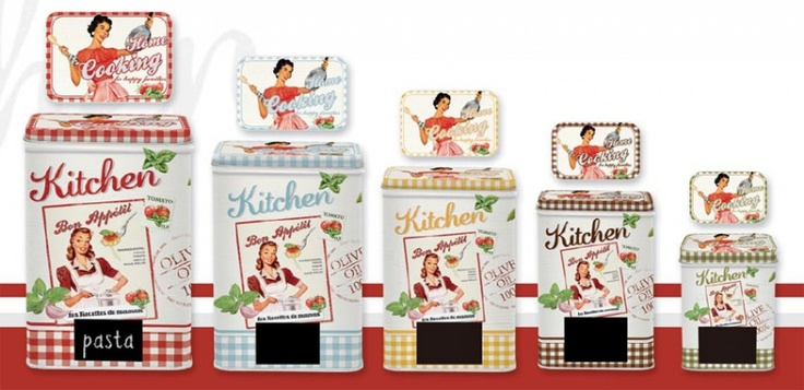 Set of 5 retro cans. You can wrote on it! Buy it on www.miahome.pl