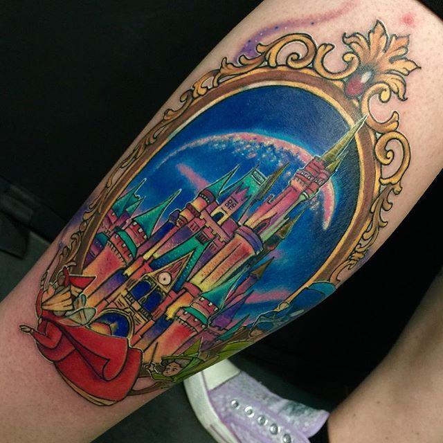 Disney castle tattoo u guys made me ink pinterest for Disney world tattoos