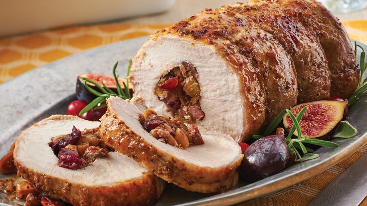 Cranberry & Apple-Stuffed Pork Roast